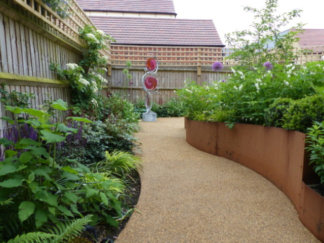 Resin Pathway with raised borders