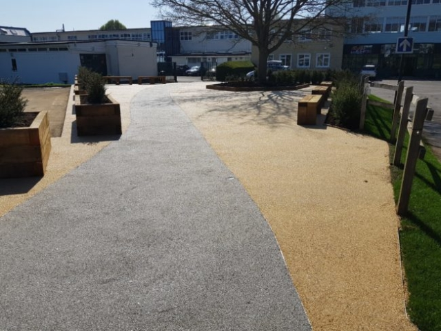 Resin bound gravel at Woodgreen School